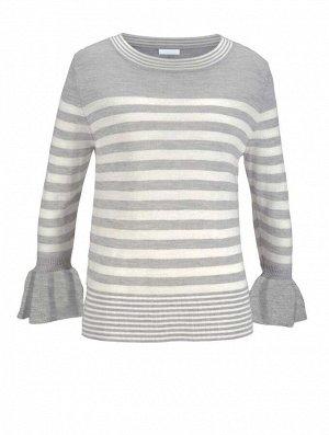Пуловер, серо-белый
