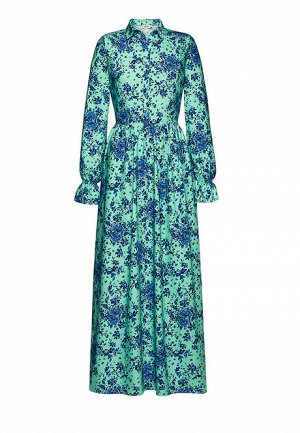 Платье с длинным рукавом для женщины, цвет ментоловый