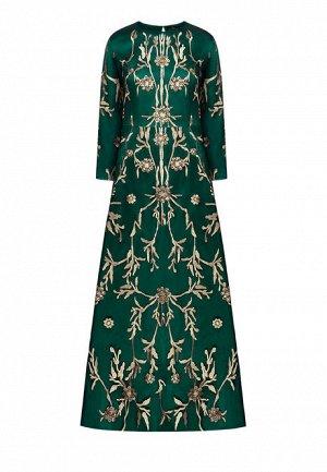 Платье с длинным рукавом, цвет зелёный