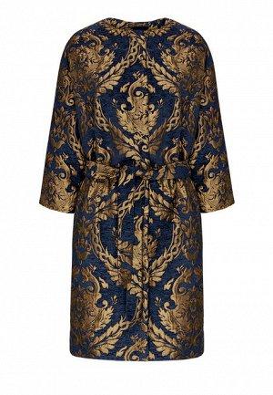 Пальто с рукавом 3/4 для женщины, цвет темно-синий