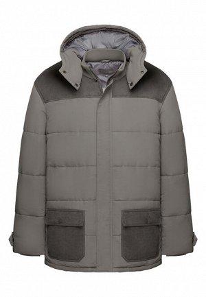 Утепленная куртка для мужчины, цвет серый