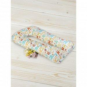 Подушка для беременных  u-образная, размер 35 ? 340 см, принт жирафики