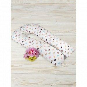 Подушка для беременных  u-образная, размер 35 ? 340 см, принт эскимо