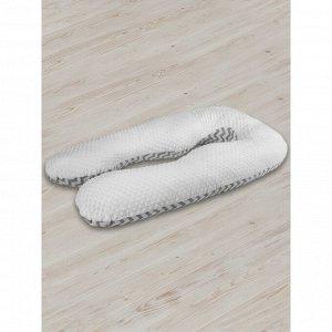 Подушка для беременных анатомическая, размер 72 ? 340 см, зигзаг, серый   4791927