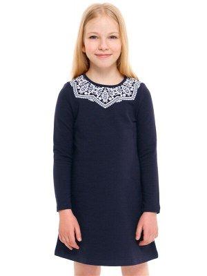 Блузка с корот. рукавом т-синяя р146