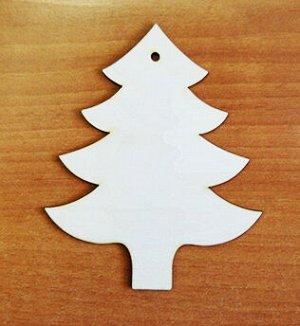 Елочка Елочка, размер 13*10,5 см, материал: фанера 3 мм.