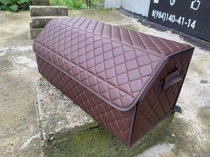 Органайзер Большой Эко Кожа в багажник авто Темный шоколад Akuma