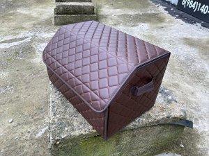 Органайзер Средний Эко Кожа в багажник авто Темный Шоколад Akuma