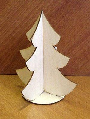 Елочка Елочка(продается в разобранном виде в палетке), размер 18*16*16 см, материал: фанера 3 мм.