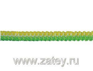 Гирлянда Декор 3,6м зелено-бело-желтая