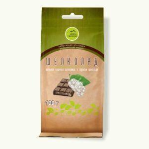 Шелколад (шелковица в шоколаде с тростниковым сахаром) 100г.