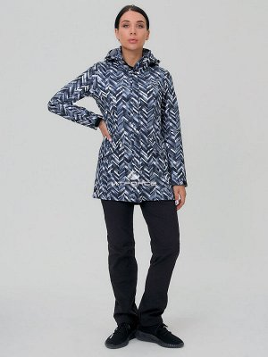 Женский осенний весенний костюм спортивный softshell темно-серого цвета 019221TC