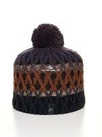 Шапка зимняя вязанная коричневого цвета 5925K