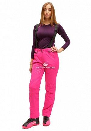 Женские зимние горнолыжные брюки большого размера розового цвета 1878R