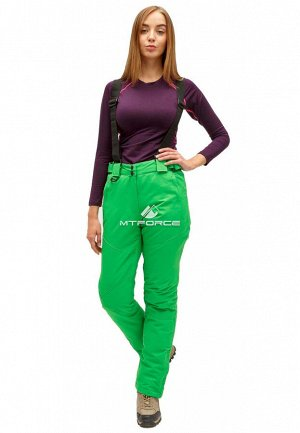 Женские зимние горнолыжные брюки зеленого цвета 905Z