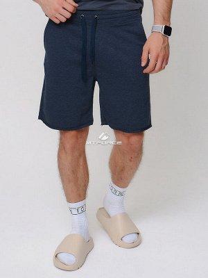 Летние шорты трикотажные мужские темно-синего цвета 280520TS