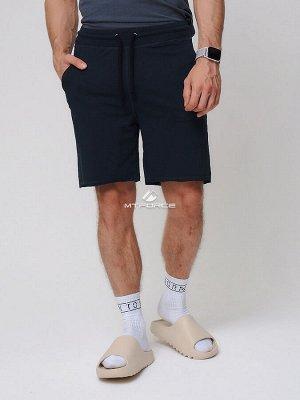 Летние шорты трикотажные мужские черного цвета 050620Ch