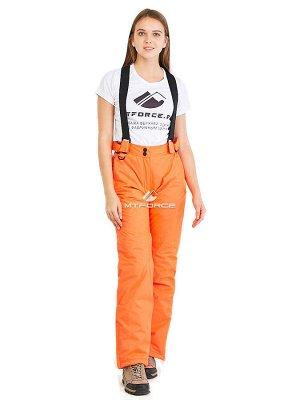 Женские зимние горнолыжные брюки оранжевого цвета 818O