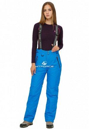 Женские зимние горнолыжные брюки большого размера голубого цвета 1878Gl