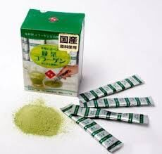 Коллаген с зелёным чаем матча в стиках  Вес 45 г, 30 шт х1.5 г