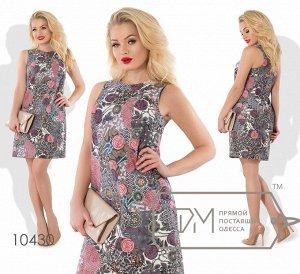 Платье с рисунком Фабрика Моды 10430