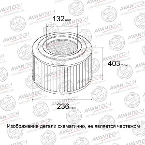 Фильтр воздушный Avantech AF0517