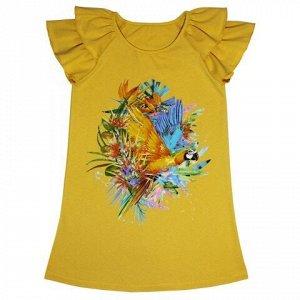 Платье Яркое летнее платье. Модный принт. Материал: 95% хлопок, 5% эластан, кулирка с лайкрой