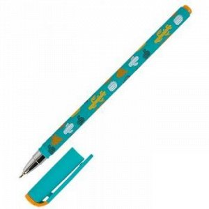 """Ручка шариковая масляная 0.5мм """"Slim Soft. LOREX COLOR EXPLOSION.CACTUS"""" синяя LXOPSS-CE2 LOREX {Китай}"""