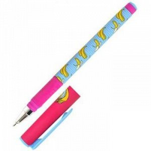 """Ручка шариковая масляная 0.7мм """"Double Soft. LOREX FOOD ADDICTION.BANANA"""" синяя LXOPDS-FA1 LOREX {Китай}"""