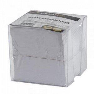 Бумага для заметок в пластик. боксе 9х9х9 см белая NGB4-909090L LITE {Россия}