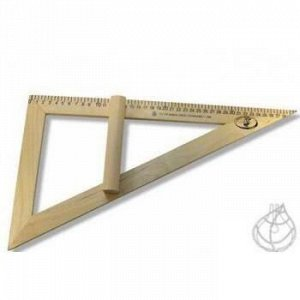 Треугольник  классный 30 градусов (дерево) С364 Красная звезда {Россия}