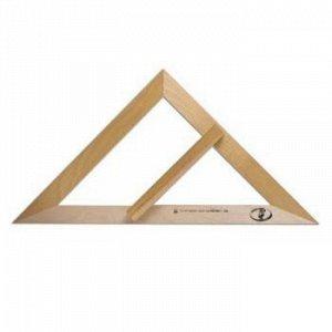 Треугольник  классный 45 градусов (дерево) С370 Красная звезда {Россия}