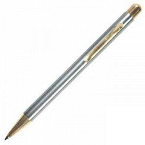 """Ручка автоматическая шариковая """"Nova"""" синяя 1.0мм корпус хром/золото 8235 Luxor {Индия}"""