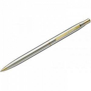 """Ручка автоматическая шариковая """"Sterling"""" синяя 0.8мм корпус хром/золото 8210 Luxor {Индия}"""