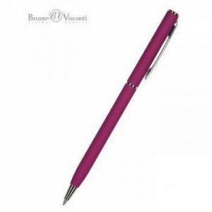 """Ручка автоматическая шариковая 0.7мм """"PALERMO"""" синяя, (бордовый металлический корпус) 20-0250/04 Bruno Visconti {Китай}"""