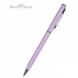 """Ручка автоматическая шариковая 0.7мм """"PALERMO"""" синяя, (сиреневый металлический корпус 20-0250/10 Bruno Visconti {Китай}"""