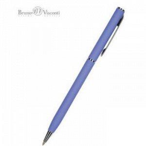 """Ручка автоматическая шариковая 0.7мм """"PALERMO"""" синяя, (фиолетовый металлический корпус) 20-0250/11 Bruno Visconti {Китай}"""
