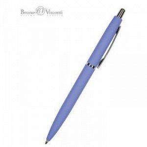 """Ручка автоматическая шариковая 1.0мм """"SAN REMO"""" синяя, ярко-синий металлический корпус 20-0249/08 Bruno Visconti {Китай}"""