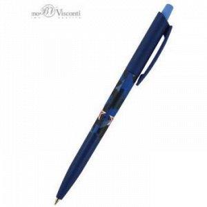 """Ручка автоматическая шариковая 0.5мм """"HappyClick. Милитари Navy"""" синяя 20-0241/06 Bruno Visconti {Китай}"""