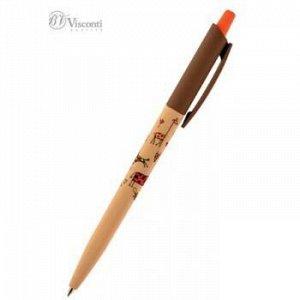 """Ручка автоматическая шариковая 0.5мм """"HappyClick.Жирафы"""" синяя 20-0241/17 Bruno Visconti {Китай}"""