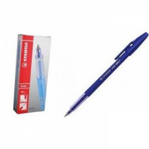 Ручка шариковая 808/41-F синяя 0.7мм STABILO {Малайзия}