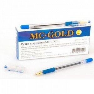 Ручка шариковая MC GOLD синяя 0.5мм BMC-02 MunHwa {Корея}