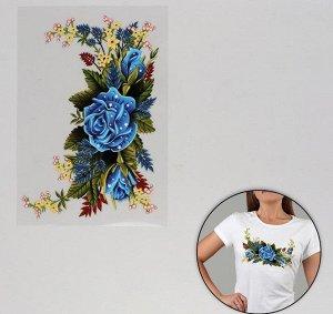 Термотрансфер Синяя роза 13*20см