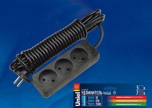 Удлинитель серии Standart S-CD3-5 BLACK , шнур 5м., 3 гнезда, б/з. Черный.