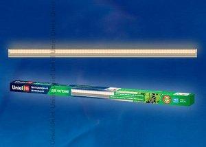 Светильник для растений светодиодный линейный ULI-P10-18W/SPFR IP40 SILVER , 560мм, выкл. на корпусе. Спектр для фотосинтеза.