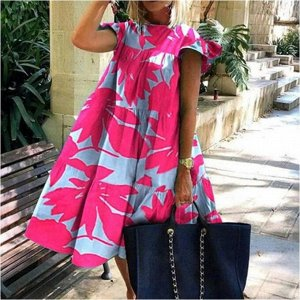 Платье Платье. Материал: полиэстер. Размер: (бюст, длина см) S (94, 99), M (98, 100), L (102, 101), XL (106, 102), 2XL (110, 103), 3XL (114, 104).