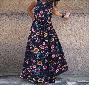 Платье Платье. Материал: Смешанный хлопок. Размер: (бюст, длина см) S (120, 130), M (125, 131), L (130, 132), XL (135, 133), 2XL (140, 135), 3XL (145, 136).