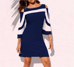 Платье Платье. Материал: полиэстер. Размер: (бюст, длина см) S (82, 90), M (86, 92), L (90, 94), XL (94, 96), 2XL (98, 98), 3XL (102, 100).
