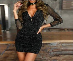 Платье Платье. Материал: полиэстер. Размер: (бюст, длина см) S (74-110, 73), M (78-114, 74), L (82-118, 75), XL (86-122, 76).