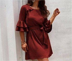 Платье Платье. Материал: Смешанный хлопок. Размер: (бюст, длина см) S (92, 87), M (96, 88), L (102, 89), XL (108, 90).